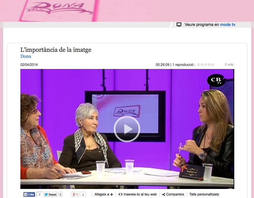 Tv Costa Brava Programa Dona L'importància de la imatge