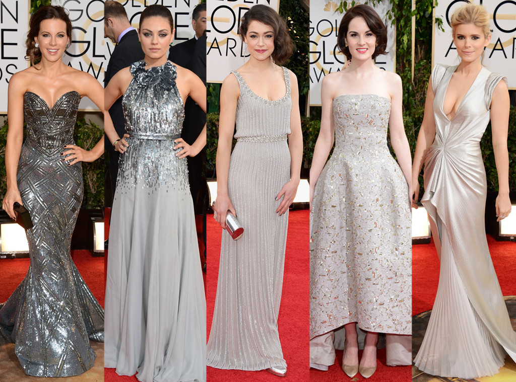 Personal shopper barcelona thegoldenstyle red carpet trends from the 2014 golden vestidos - Silver red carpet dresses ...