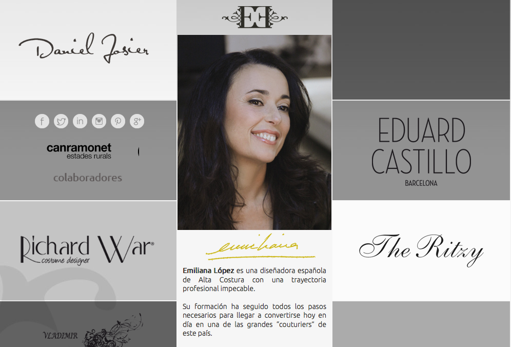 Emiliana López -Diseñadora de Alta Costura