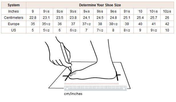 Pin Printable Shoe Size Template on Pinterest