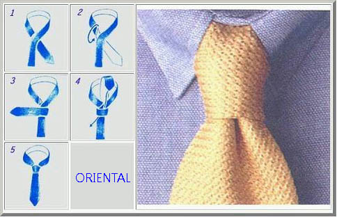 Tie 2 - Oriental-Small Knot TheGoldenStyle